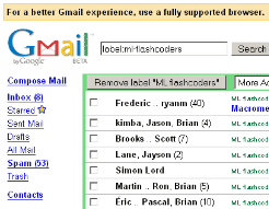 GMail feature: HTML fallback interface